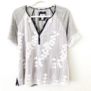 TINY Lace Overlay Top